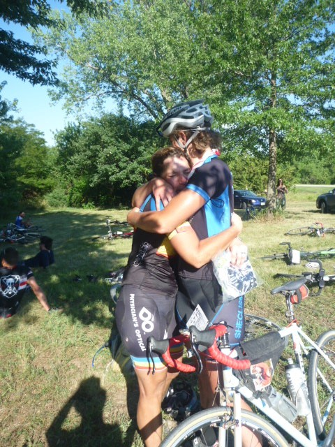 Big hugs with Desiree, who took the win in Masters.